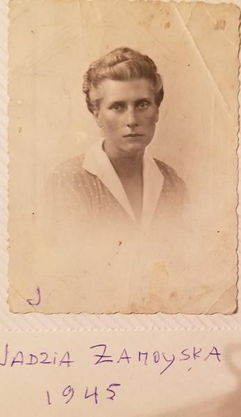 Jadwiga z Brzozowskich Zamoyska, 1945 r., fot. z archiwum rodziny Zamoyskich