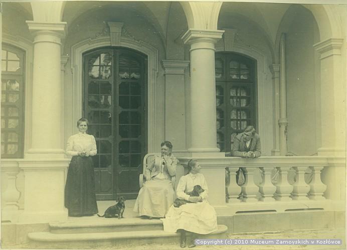 Aniela z Potockich Zamoyska z sisostrzenicami Konstantego Zamoyskiego