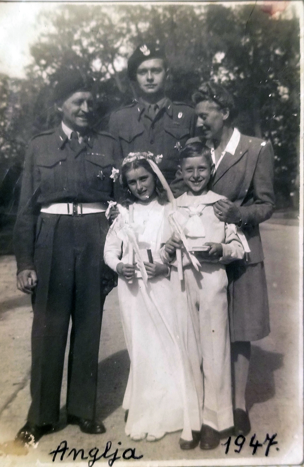 Rodzina Zamoyskich, Anglia, 1947