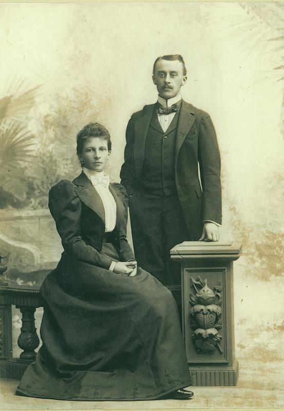 Władysław i Zofia z Czetwertyńskich Zamoyscy, lata dziewięćdziesiąte XIX w., fotografia zabytkowa