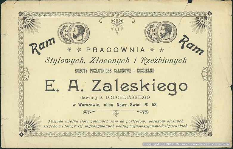 etykieta firmy Zaleskiego