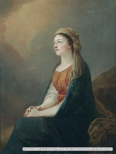 """Kopia portretu Marii z Czartoryskich Wirtemberskiej (1768–1854) według Heinricha Friedricha Fügera (""""A. Grabowski Kop. 1872"""")"""