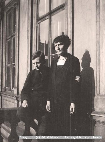 Antoni Belina Brzozowski z matką