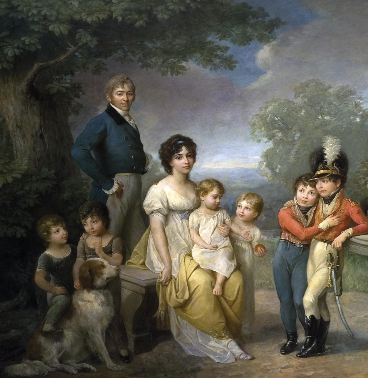 Zofia z Czartoryskich Zamoyska z rodziną